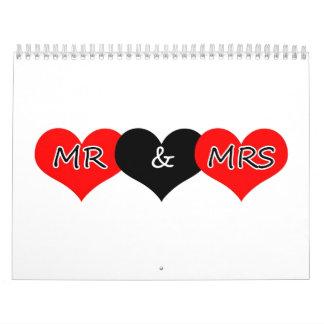 Sr. y señora calendario
