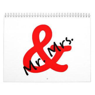 Sr. y señora calendarios