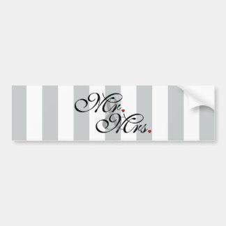 Sr. y señora Click para modificar rayas del color Pegatina Para Auto