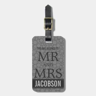 Sr. y señora con clase Personalized de la MOD de l Etiquetas Maletas