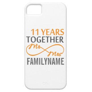 Sr. y señora de encargo 11mo aniversario funda para iPhone 5 barely there