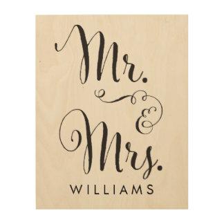 Sr y señora de madera Art Print de la lona