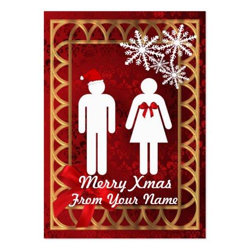 Sr. y señora divertidos Santa personalizaron la et Tarjeta De Visita