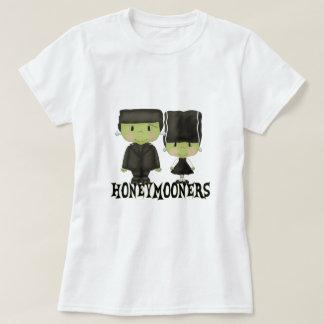 Sr. y señora Franken Honeymooners Funny Halloween Playera