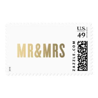 Sr. y señora franqueo que se casa del   sello