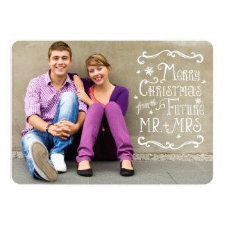 Sr. y señora futuros tarjeta de la foto del anuncio