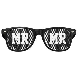 Sr. y señora gafas de sol del banquete de boda