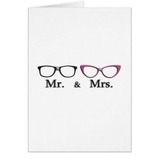 Sr. Y señora Geek Felicitacion