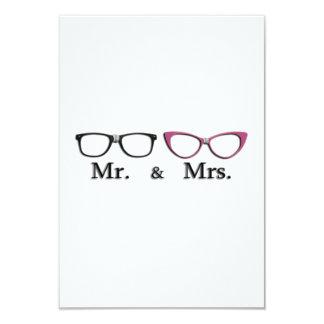 """Sr. Y señora Geek Invitación 3.5"""" X 5"""""""
