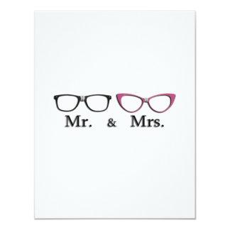 """Sr. Y señora Geek Invitación 4.25"""" X 5.5"""""""