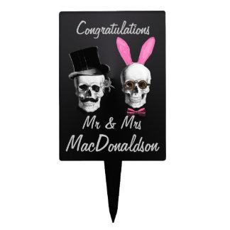 Sr. y señora góticos divertidos wedding o aniversa figuras de tarta