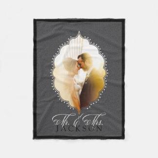 Sr. y señora Gray Photo Personalized Blanket Manta De Forro Polar