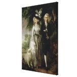 Sr. y señora Guillermo Hallett, c.1785 Impresión En Tela