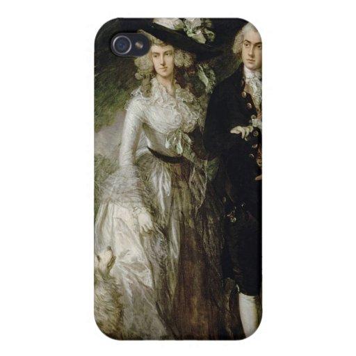 Sr. y señora Guillermo Hallett, c.1785 iPhone 4/4S Carcasa