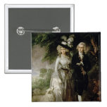 Sr. y señora Guillermo Hallett, c.1785 Pin Cuadrado