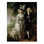 Sr. y señora Guillermo Hallett, c.1785 Postal