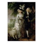 Sr. y señora Guillermo Hallett, c.1785 Tarjeta De Felicitación