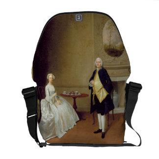 Sr. y señora Hill, c.1750-51 (aceite en lona) Bolsas Messenger