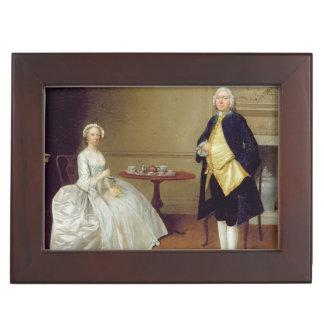 Sr. y señora Hill, c.1750-51 (aceite en lona) Caja De Recuerdos