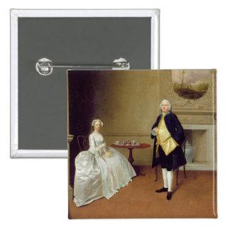 Sr. y señora Hill, c.1750-51 (aceite en lona) Pin