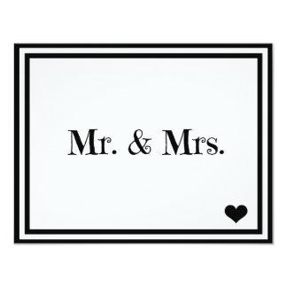 Sr. y señora invitación 10,8 x 13,9 cm