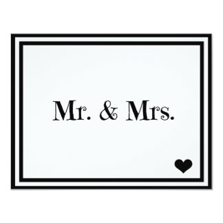 """Sr. y señora invitación 4.25"""" x 5.5"""""""
