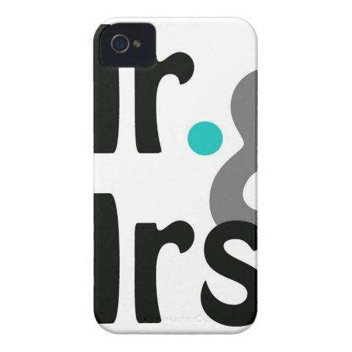 Sr. y señora iPhone 4 carcasa