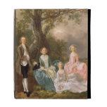 Sr. y señora Juan Gravenor y sus hijas, Eliz