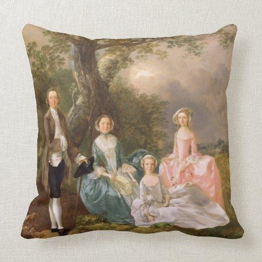 Sr. y señora Juan Gravenor y sus hijas, Eliz Cojín