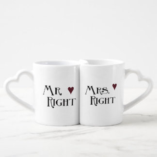 Sr. y señora la Right Tazas Para Enamorados