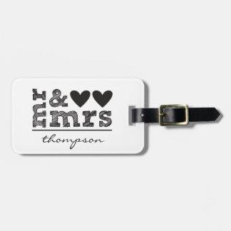 Sr. y señora Luggage Tag Etiqueta Para Maleta
