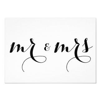 """Sr. y señora modernos Wedding Sign Card de la Invitación 5"""" X 7"""""""