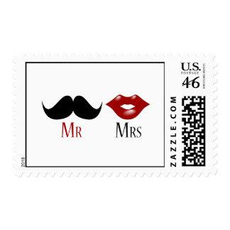 Sr y señora negros del bigote del manillar envio