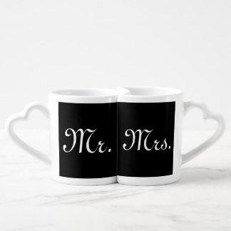 Sr. y señora Nesting Mug Set Tazas Para Enamorados