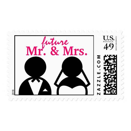 Sr. y señora novia y sellos futuros del boda del n