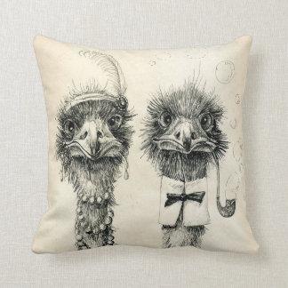 Sr y señora Ostrich Cojines