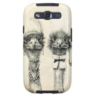 Sr. y señora Ostrich Galaxy SIII Coberturas