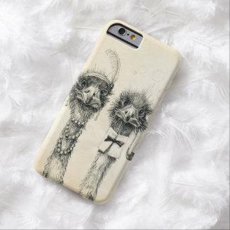 Sr. y señora Ostrich Funda Para iPhone 6 Barely There