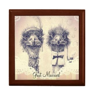 Sr. y señora Ostrich Joyero Cuadrado Grande