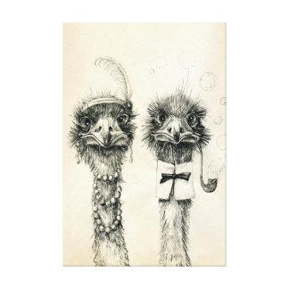 Sr. y señora Ostrich Lona Estirada Galerías