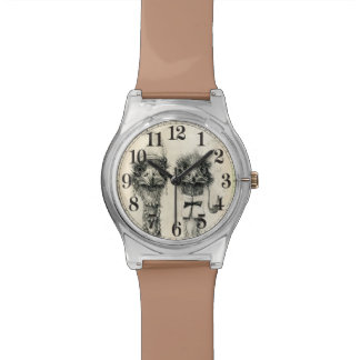 Sr. y señora Ostrich Relojes De Mano