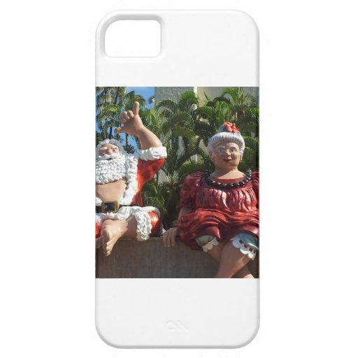 Sr. y señora Papá Noel iPhone 5 Carcasas