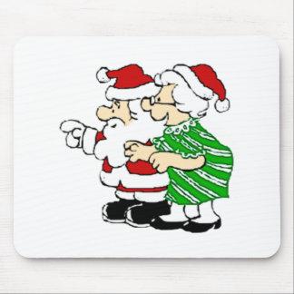 Sr. y señora Papá Noel Tapete De Ratones