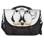 Sr. y señora Penguin Design Bolsas De Ordenador