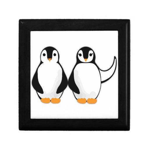 Sr. y señora Penguin Design Caja De Regalo