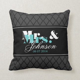 Sr y señora personalizados almohada de tiro para