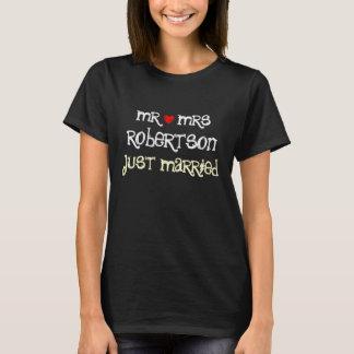 Sr. y señora personalizados apenas camisetas