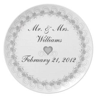 Sr. y señora personalizados Keepsake Plate Plato Para Fiesta