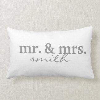 Sr. y señora Personalized Cojín