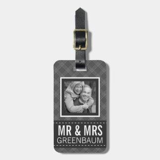 Sr. y señora Personalized de la foto Etiquetas De Equipaje